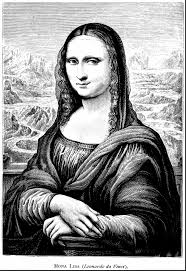 mona lisa clipart coloring page pencil and in color mona lisa
