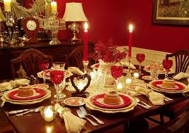 decorating dinner table for that special dinner for two