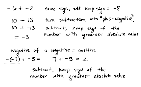adding and subtracting negative numbers worksheets worksheets