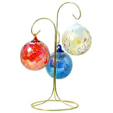ornament holder glass ornament brass display stand 11 high pacific