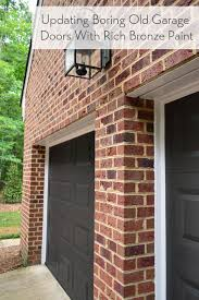 painting our garage doors a richer deeper color young house love