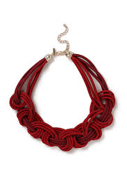 accessories collar necklace images Red fabric plait collar necklace necklaces accessories wallis jpg