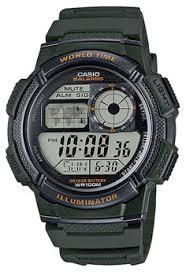 Jam Tangan Casio Karet pria jam tangan digital casio digital jam tangan pria hijau