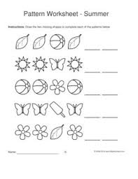 shape pattern year 2 59 best pattern worksheets images on pinterest activity sheets for