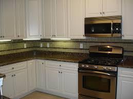 glass 3x6 kitchen tile backsplash with two granite and glass stick