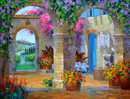 Decorative Paintings For Home Decoration Ideas Interesting Picture Of Colorful Garden French