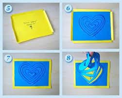cara membuat kartu ucapan i love you love greeting card