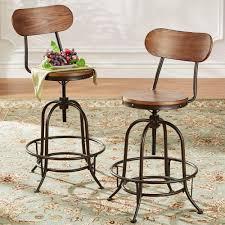 homesullivan olson industrial 24 in brown swivel bar stool set