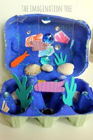 Under The Sea Nursery Decor by Egg Carton Ocean Craft The Imagination Tree