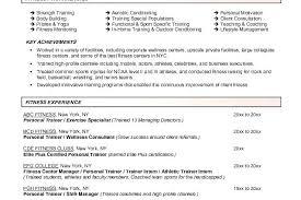 sample resume for fitness instructor x fitness trainer sample