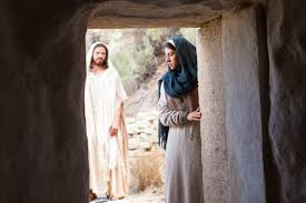 mary encounters christ at the tomb