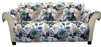 floral paisley furniture protectors blue sofa slipcovers and