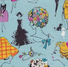 vintage gift wrap vintage gift wrap fashion illustration manufacturer unknow flickr