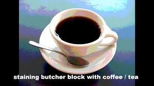 staining butcher block with coffee youtube staining butcher block with coffee