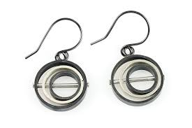 creative earrings o c d circle grayscale earrings sos creative dexterity