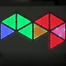 smart tangram landscape led light puzzle rgb 9pcs eu plug app