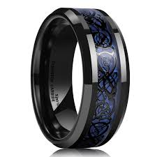 black opal mens ring amazon com quasar tungsten wedding band with blue green opal
