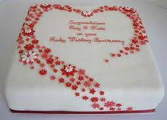 ruby wedding cakes 40th wedding anniversary cake decorations food photos