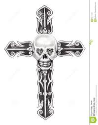 cross tatoo art skull cross tattoo stock illustration image 65151133