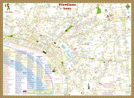 Map Of Laos Vientiane Laos City Map Hobo Maps