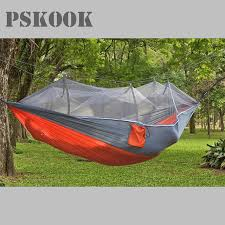 pskook nylon camping hammock with mosquito net lightweight