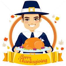 happy thanksgiving pilgrim vector illustration kakigori