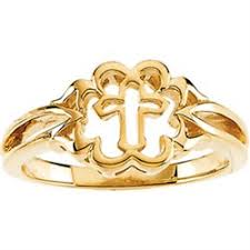 catholic purity ring puriity rings 14k yellow gold cross purity ring