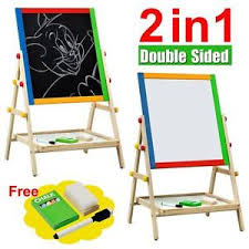Lovely Kids Double Sided Easel Stand 2 In 1 Wooden Art Easel