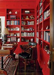 Small Red Bookcase Best 25 Red Office Ideas On Pinterest Red Bedroom Decor Red