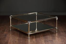vintage brass and chrome coffee table mecox gardens
