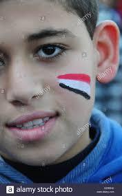 Cairo Flag Face Of A Boy Egyptian Flag Cairo Egypt Stock Photo Royalty Free