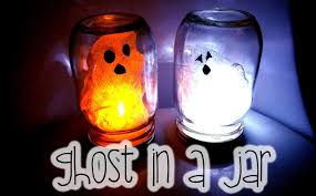 Mason Jar Halloween Lantern Halloween Kids Craft Diy Ghost In A Jar Youtube