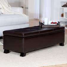 Leather Coffee Table Storage 2018 Leather Coffee Tables Ottoman With Storages