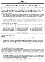 Leadership Resume Template Resume Sample 10 Engineering Management Resume Career Resumes