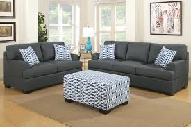 Loveseat With Ottoman Camille Black Fabric Loveseat Steal A Sofa Furniture Outlet Los