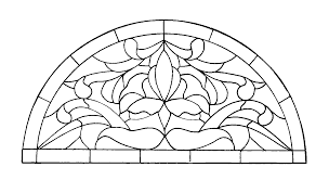 stained glass pictures to color for free coloring pages on art