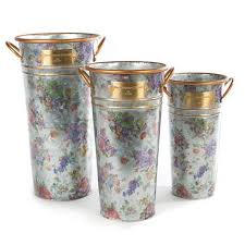 mackenzie childs wedding registry mackenzie childs flower market flower buckets set of 3 borsheims