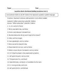 Quotation Marks Worksheet Englishlinx Com Quotation Marks Worksheets Englishlinx Com