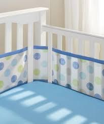 nip breathable baby mesh crib liner bumper pad blue polka dot