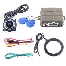 car engine push start button rfid car alarm system with