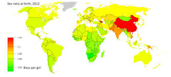 Picture Of A World Map by File 2012 Birth Ratio World Map Jpg Wikimedia Commons