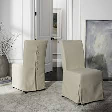 Slipcovered Parsons Dining Chairs Safavieh Parsons Dining Slipcover Dining Chairs Set Of 2 Free