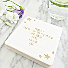 personalised to the moon and back drink coaster by edgeinspired