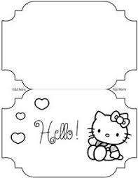 printable hello kitty card template hello kitty pinterest