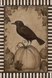 amazon com toland home garden pumpkin crow house flag 109640
