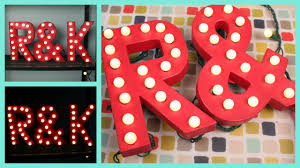 diy easy marquee letter lights tutorial youtube