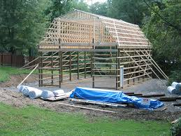 How To Build A Pole Barn Building by Pole Barn With Gambrel Roof Truss Kit Pa U0026 Nj Apm Buildings