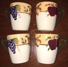 Ebay Home Interior Set Of 4 Home Interiors Gifts Sonoma Villa Coffee Mugs Fruit