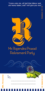 Retirement Invitation Card Retirement Invitation Cards Designs My Creative Design Works