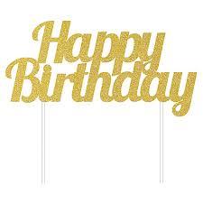 happy birthday cake topper gold glitter fifty cake topper cake links ltd